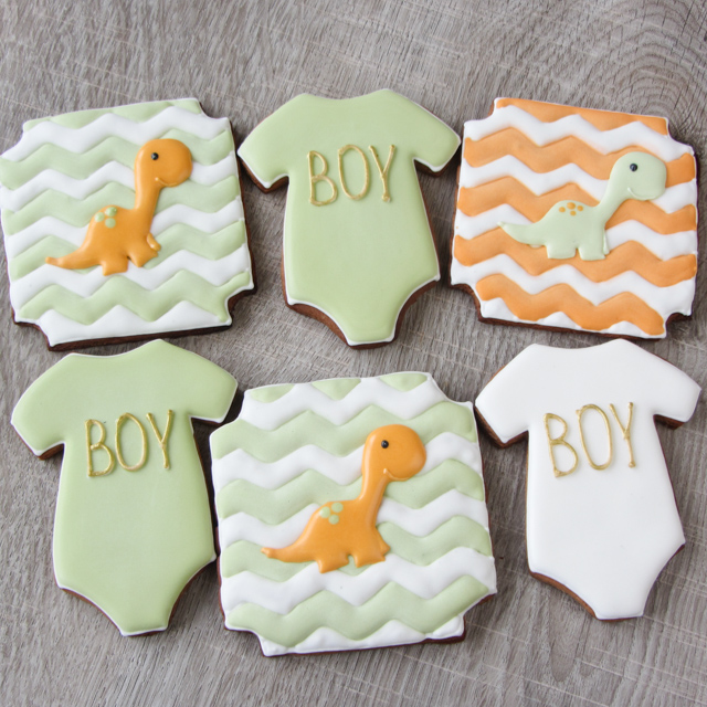 Baby shower chevron cookie set