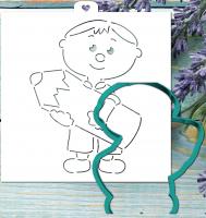 """Трафарет+форма """"Мальчик с карандашом"""""""