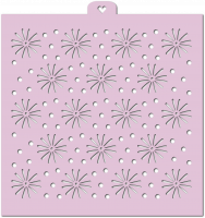 Stencil «Flowers and polka dots 2», 1 pc.