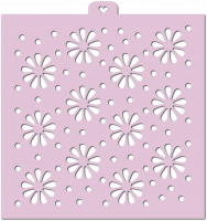 Stencil «Flowers and polka dots», 1 pc.