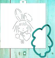 Трафарет+форма «Девочка с сердцем»