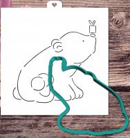 Трафарет+форма «Белый мишка»