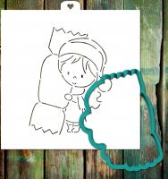 Трафарет+форма «Девочка с конфетой»