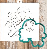 Трафарет+форма «Девочка с леденцом»
