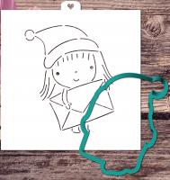 Трафарет+форма «Девочка с письмом»