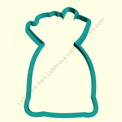 "Cookie Cutter ""Grandfather's bag of frost 2"" Форма «Мешок деда мороза 2»"