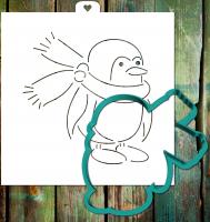 Трафарет+форма «Пингвин с шарфом»