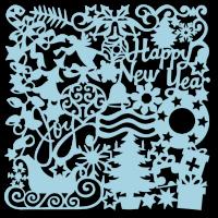 Трафарет «Новогодний. Фон 2»