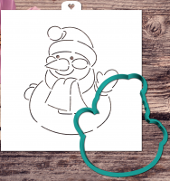 Трафарет+форма «Приветливый снеговик»