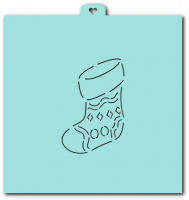 Cookie Stencil «Christmas felt boots 2»