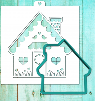 Cookie Cutter+Stencil «New Year's house 1»