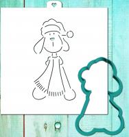 Трафарет+форма «Пес с шарфом. Год собаки»