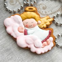 Cookie Cutter+Stencil «Angel on a cloud»