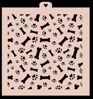Трафарет «Собачьи следы и косточки. Год собаки»