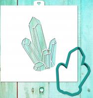 Трафарет+форма «Кристаллы»