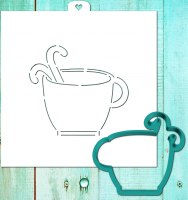 Cookie Cutter+Stencil «Cup with candies»