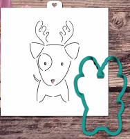 """Трафарет+форма """"Песик с рожками. Год собаки"""""""
