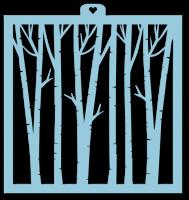 Трафарет «Фон деревья. Лес»