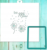 Cookie Cutter+Stencil  «Postcard Be mine»