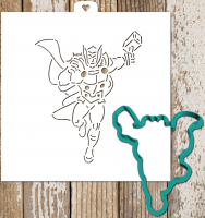 Cookie Cutter+Stencil «Avengers. Thor»