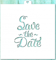 "Трафарет ""Save the date"""