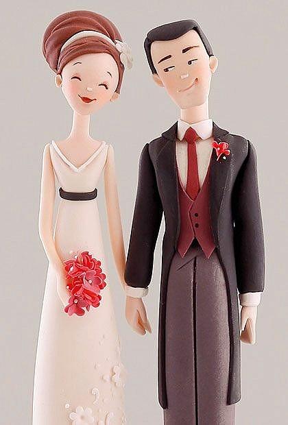 Фигурки на свадебный торт из мастики
