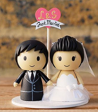 Фигурки на свадебный торт из полимерной глины