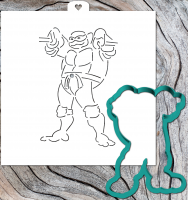Cookie Cutter+Stencil «Turtles are ninja 2»