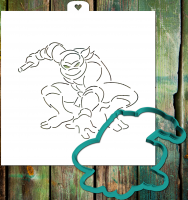 Cookie Cutter+Stencil «Turtles are ninja 4»