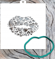 Cookie Cutter+Stencil «Sponges of hearts»