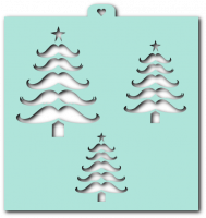 Cookie stencil «Spruce tree of mustache»