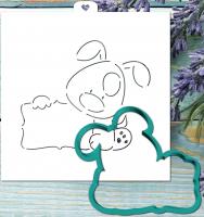 Трафарет+форма «Пес с табличкой. Год собаки»