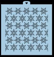 Трафарет «Снежинки. Фон 3»