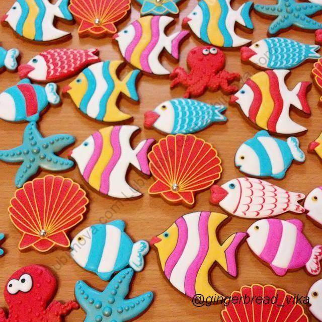 Как сделать рыбки печенье