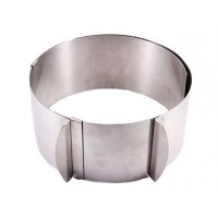 Ring for cake sliding for cutting cookies 25-30 cm, height 9 cm