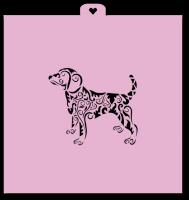 Трафарет «Собачка расписная. Год собаки»