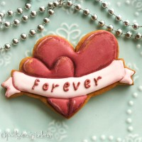 Cookie Cutter+Stencil «Love forever»