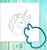 Трафарет+форма «Единорог 2»