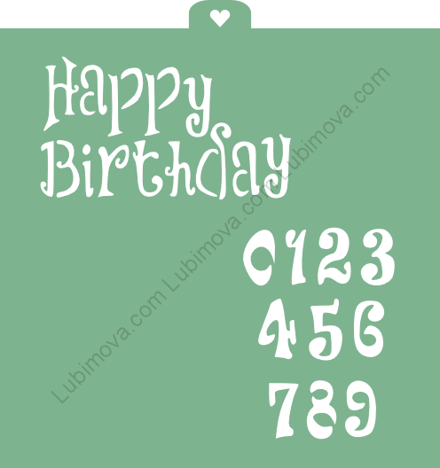 "Трафарет ""Happy birthday 2"" Трафарет ""Happy birthday 2"""