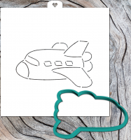 Cookie Cutter+Stencil «Aircraft 2»