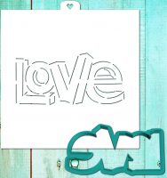 Cookie Cutter+Stencil «LOVE 3D»