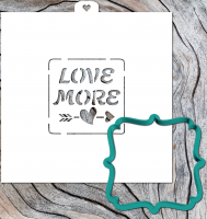 Cookie Cutter+Stencil  «Frame Love more»