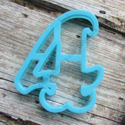 "Cookie cutter "" Number 4 "" 10 cm Форма ""Цифра - 4"" 10 см"