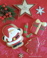 Cookie Cutter+Stencil «Santa Claus 3»