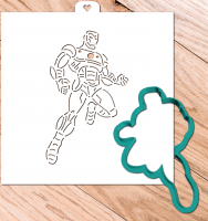 Cookie Cutter+Stencil «Avengers. Iron man»
