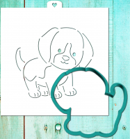 "Трафарет+форма ""Щенок. Год собаки"""