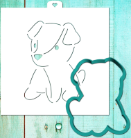 Cookie Cutter+Stencil «The dog is plush 2. The year of the dog»