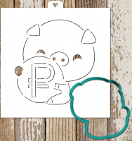 Cookie Cutter+Stencil «Pig keeps the ruble»