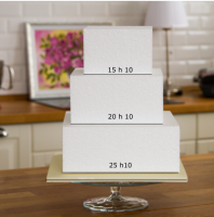 Pyramid for square cake 3 tiers