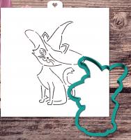 Трафарет+форма «Кошка. Хэллоуин»